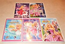 Lot of 5 Barbie DVD WS  Princess 12 Dancing Mermaid Popstar Fashion