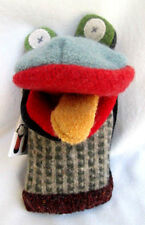 CATE & LEVI..HANDMADE in CANADA..FROG..PUPPET..NEW w TAGS