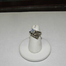 "1.00 CTS DIAMOND 14 KT WHITE GOLD  ENGAGEMENT RING SZ ""4.75"" LISTS $2,841.60"