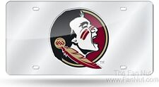Florida State Seminoles FSU SILVER SD46587 Laser License Plate Tag University of