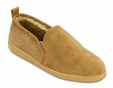 Minnetonka Mens 3831 Golden Tan Sheepskin Sierra Hardsole Moccasin Slippers 8M