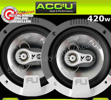 "FLI 6 6.5"" inch 16.5cm 420 Watts 3-Way Car Door Coaxial Speakers Set With Grills"