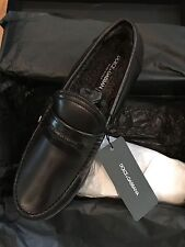 NWT $700 DOLCE & GABBANA MENS BLACK  SIZE  7  CASUAL LOAFER W/ WARM LINING