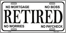 Retired Novelty Metal License Plate