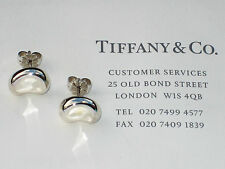 Tiffany & Co Sterling Silver Elsa Peretti 12mm Bean Stud Earrings