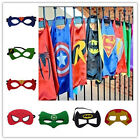 Hot Children Superhero Comic Book Hero Cape Mask Kids Fancy Dress Costume Outfit