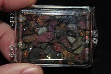 Acrylic Boxed Natural Quality Rough Peacock Copper Ore