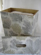 Silver Coral Toilet roll holder Wooden handmade