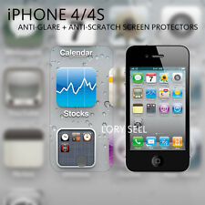 [3 Pack] iphone 4 4S Screen Protector Anti-Glare Matte Full Body Front Back