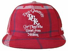 DGK Burgundy Red Plaid For Those Who Come From Nothing Snapback Baseball Hat Cap