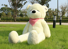 71'' 180cm Giant Teddy Bear Sleepy White Big Stuffed Plush Toy Birthday Gift