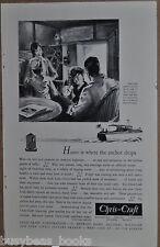 1931 CHRIS-CRAFT advertisement, Christ Craft Cruiser, family on board