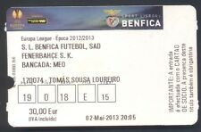 Ticket - SL Benfica - Fenerbahce - EUROPA LEAGUE 2012/13