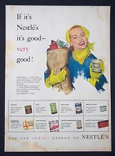NESTLÉ'S - Vintage Magazine Advert (1953) 'If It's Nestle's It's Good!' *