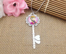 Hot FROZEN PENDANT Silver Plated CHAIN NECKLACE ROYAL PRINCESS  B4
