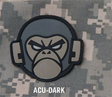 MORALE Patch Mil spec Monkey-ANGRY MONKEY HEAD-PVC - ACU DARK hook back