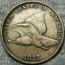 1857 Flying Eagle Cent SNOW 3 Double Die Obverse  ---- ERROR ---- #B862
