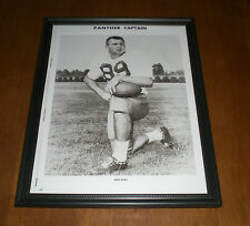 1960 PITT PANTHERS FOOTBALL CAPTAIN MIKE DITKA FRAMED B&W PRINT