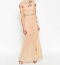 Frock and Frill Garden Rose Floral Embellished wedding Maxi dress BN SIZE 14 £95
