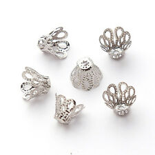 240x 160405 Charms Flower Beads End Caps Free Ship 11x8mm