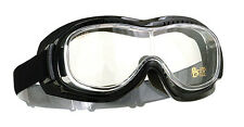 Halcyon MK5 Motorcyle Goggles Over Glasses Clear Lens