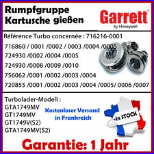 TURBO Cartouche Rumpfgruppe Cartridge cartucho CHRA VW Passat 2.0 TDi 140 HP, PS