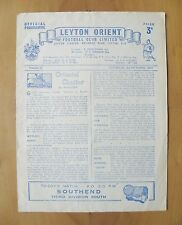LEYTON ORIENT v SOUTHEND UNITED 1953/1954 *Good Condition Football Programme*