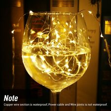 1M 20 LED String Fairy Lights Copper Wire Lamp Battery Powered Warm White 4pack