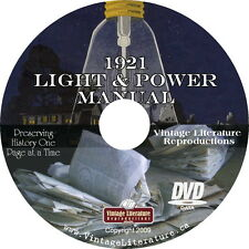 1921 Sears Light & Power for Country Homes Manual { How It was Done Then} on DVD