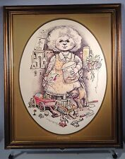 Grandma by Gary Patterson 1976 Framed Lithograph #1415 Signed Reseller