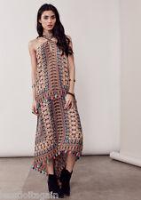 AMAL love stitch Bohemian Moroccan  Tassel Midi/ Maxi BOHO Dress S/M & M/L