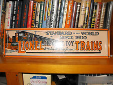 LIONELELECTRIC TOY TRAINS STANDARD of the WORLD SINCE 1900  PREWAR   RARE