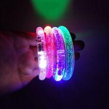 30 PCS Light-Up Bracelet Wristband LED Flashing Glow Blinking Rave Party Olympic