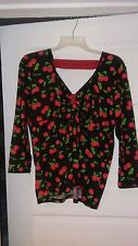 DEMI LOON Black Cherry Sweetheart Top 2X NWT Zulily Rockabilly Pinup