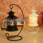 VTG Iron Moroccan Candlestick Candleholder Candle Stand Light Holder Lantern G