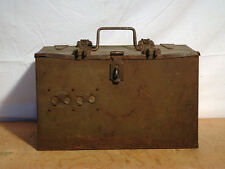 WW2, Wireless WS19 ? Vehicle Steel & Wood Battery Box with Heavy Duty Hold Downs