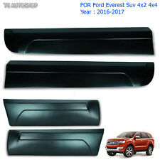 Body Cladding Side 4 Door Matte Black For Ford Everest 4x4 Suv 2.2 3.2 2016 2017
