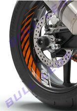 BULL-LEDS ✓ 2PCS X KTM ORANGE TYRE STRIPS & LOGO RC200 DUKE RC390 390 DECAL