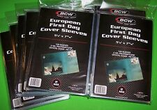1000 EUROPEAN FIRST DAY COVER POLY SLEEVES, ARCHIVAL SAFE, CLEAR, BCW BRAND