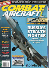 Combat Aircraft Apr.10 Russia Sukhoi T-50 Vermont ANG US Fighters Black Hawk F35