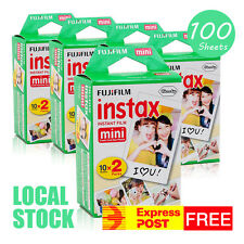 Fujifilm Instax Mini Film - 100 Sheets Fuji instant photos 7s 8 90 Polaroid 300