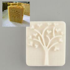 Heart Tree Design Handmade Yellow Resin Soap Stamping Mold Mould Craft