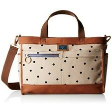 New Fossil Passport Printed Dot Fabric East/West Crossbody Bag