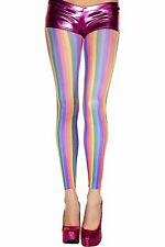 Rainbow Colour Striped Footless Semi-Opaque Tights Sexy Designer Lingerie P35820