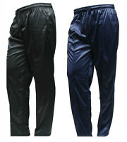 Mens Silky Plain Bottoms Trousers Pants Jogging Casual Leisure Sports Gym