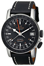 Glycine Airman 17 Sphair Automatic GMT Worldtimer Steel Mens Watch 3927.191 LB9B