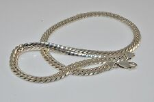 beautiful and stylish 925 Silver closed curb chain 19 inch long 7 mm wide 45 g