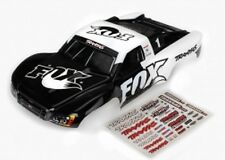 Traxxas 6849 Slash 2WD & 4x4 FOX Racing White Painted & Pre-Cut Body w/Decals