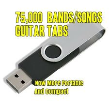 75,000+ BANDS/SONGS Guitar Tabs Software Lessons USB