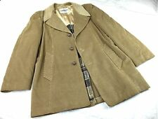 Vintage GRAIS Cord Car Coat Corduroy Wool Liner Mens 44 Reg 1970's SUPERB L/XL